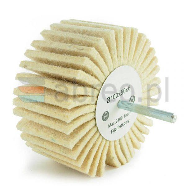 Ściernica listkowa trzpieniowa z filcu 100x50x6