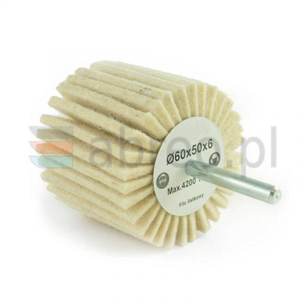 Ściernica listkowa trzpieniowa z filcu 60x50x6