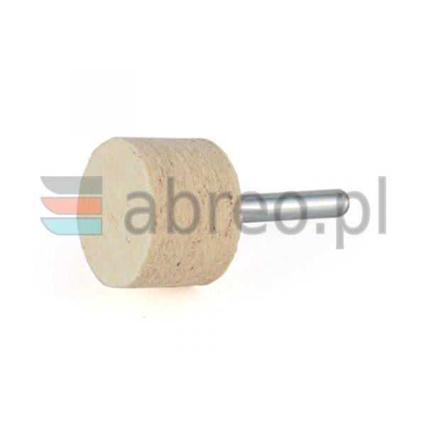 Filc polerski na trzpieniu walcowy 30x20x6