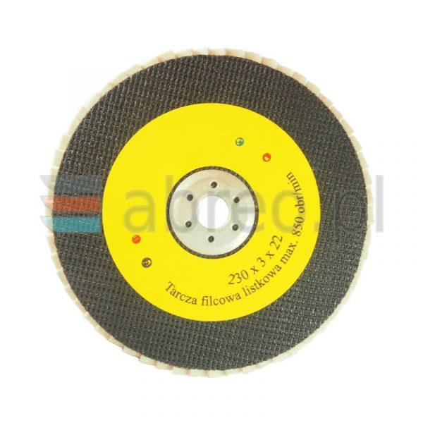 Tarcza filcowa 230×22 lamelka listkowa