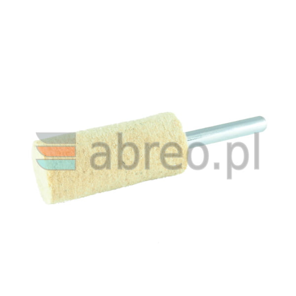 Filc polerski na trzpieniu walcowy 25x40x6