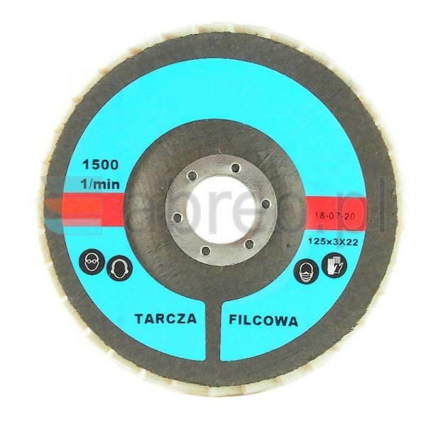 Tarcza listkowa 125x22 włóknina lamelkowa 2