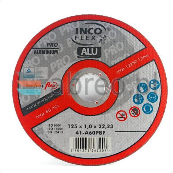 Tarcza do cięcia aluminium 125x1 INCO