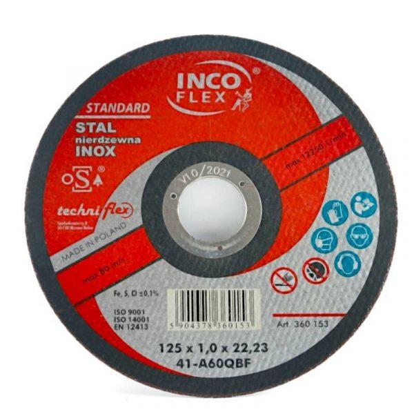 TARCZA DO CIĘCIA INOX 125 x 1.0 INCO FLEX