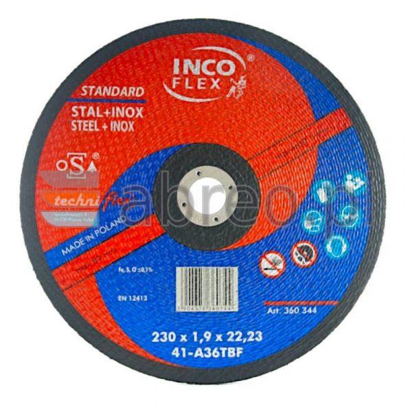 TARCZA DO CIĘCIA STAL+INOX 230 x 1.9 INCO FLEX