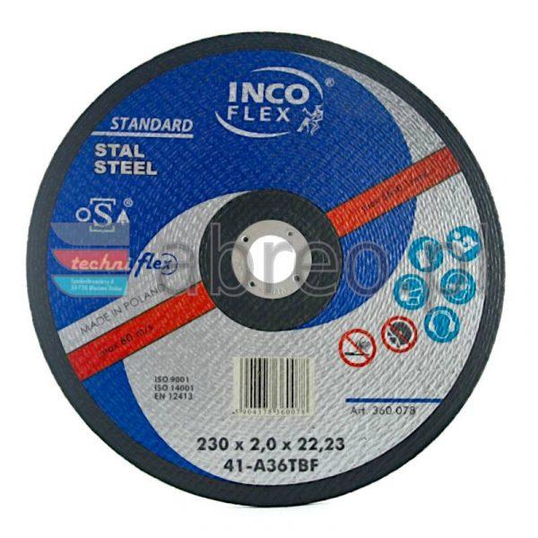 Tarcza do cięcia metalu 230x2,0 INCO