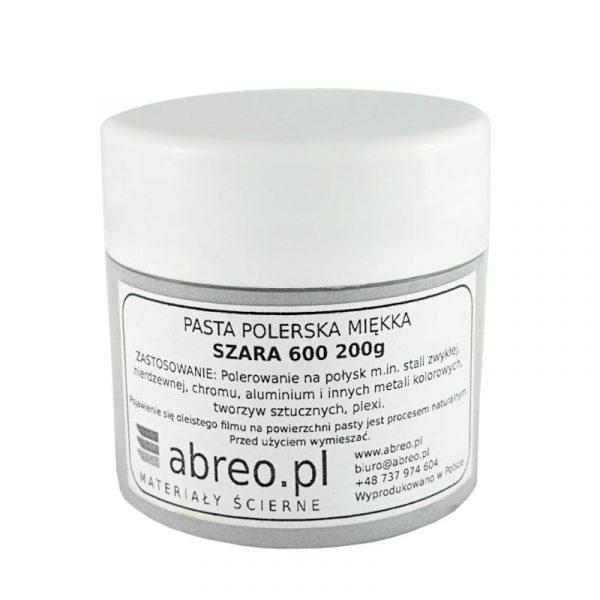 PASTA POLERSKA MIĘKKA SZARA 600 (INOX, STAL, ALU, TWORZYWA)